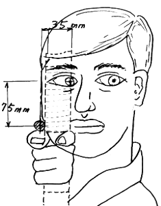 図-5 射手の顔を的から見る